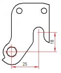 Repalceable derailleur mount, compact type